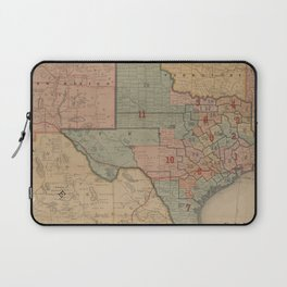 Houston Post map of the great Southwest (1880) Laptop Sleeve