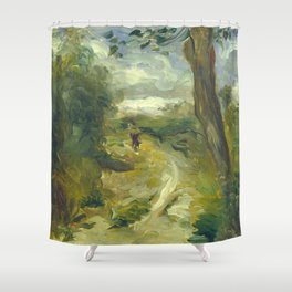 Landscape Between Storms Oil Painting by Auguste Renoir Shower Curtain