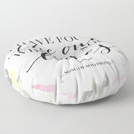 Song of Solomon 3:4 Floor Pillow