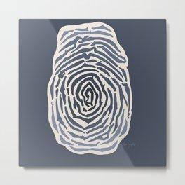 Fingerprint Study Metal Print
