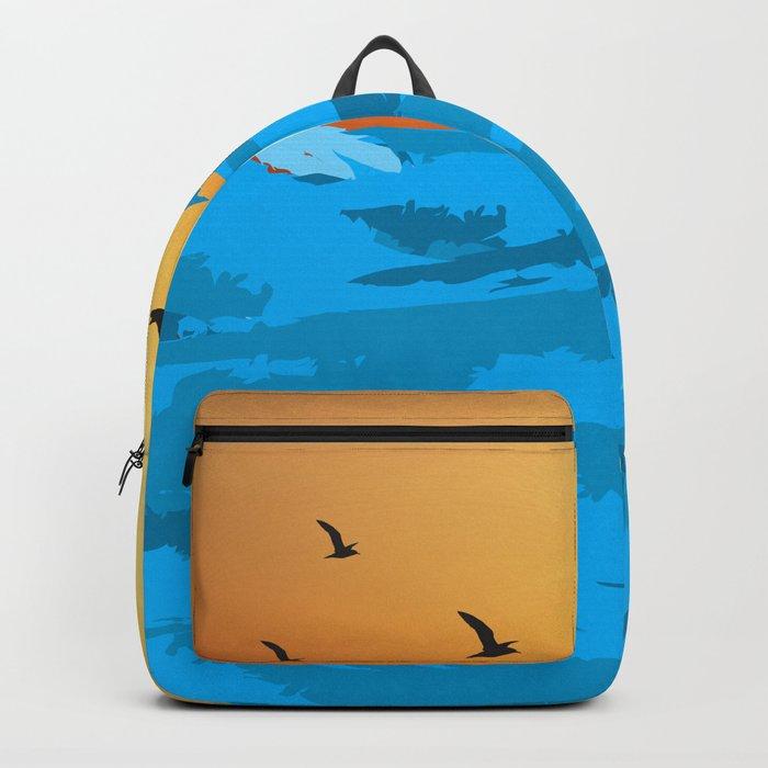 sea wave Backpack