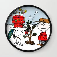 snoopy Wall Clocks featuring Snoopy 01 by tanduksapi