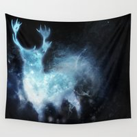 stag Wall Tapestries featuring stag by Tati