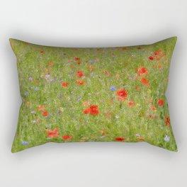 Field of Poppies (in mosaic) Rectangular Pillow