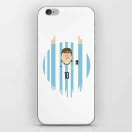 Lionel Messi Argentina Illustration  iPhone Skin
