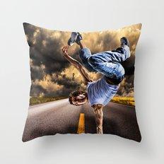 Break dance Throw Pillow