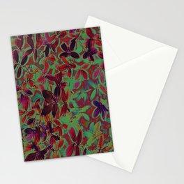 Flora Celeste Purple Agata Leaves   Stationery Cards