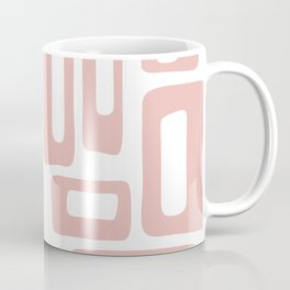 Retro Mid Century Modern Abstract Pattern 336 Dusty Rose Coffee Mug