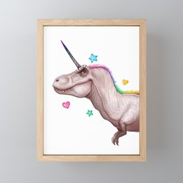 Tyrannocorn Framed Mini Art Print