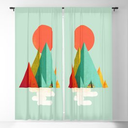 Little Geometric Tipi Blackout Curtain