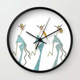 Ginette, Colette & Suzette Wall Clock