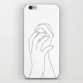 Hands line drawing illustration - Adra iPhone Skin