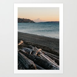 Mount Rainier Sunset Art Print