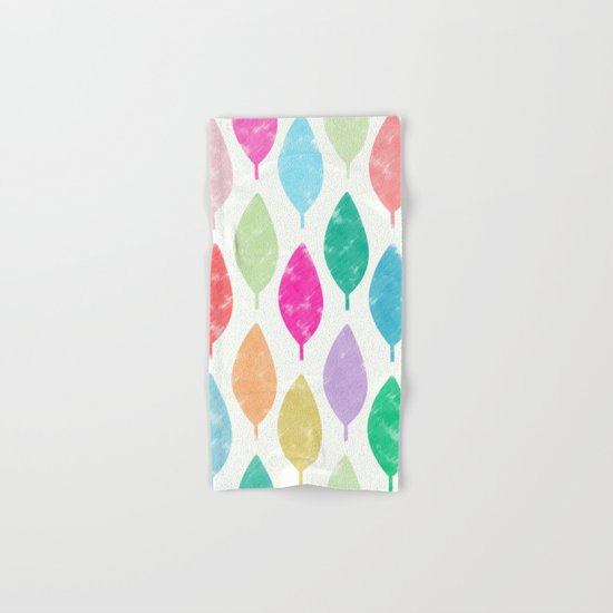 Colorful Leaves Hand & Bath Towel