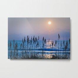 Sea Oats Sunrise 1 Metal Print