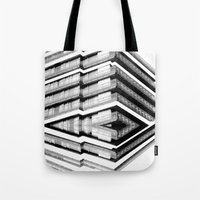 budapest hotel Tote Bags featuring Hotel Merriot Budapest. Deconstruction by Villaraco