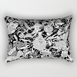 Pugs in Space Rectangular Pillow