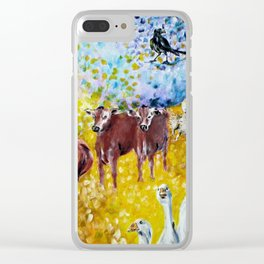 Farm Animals Protected by Brigit Clear iPhone Case