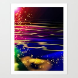 """ Merky Waters"" For iphone Art Print"