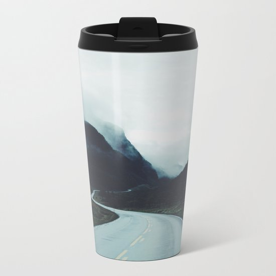 Dark road Metal Travel Mug