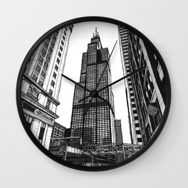 On the Shoulders of Giants - Original Drawing Wall Clock