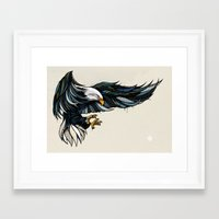 eagle Framed Art Prints featuring Eagle by Andreas Preis