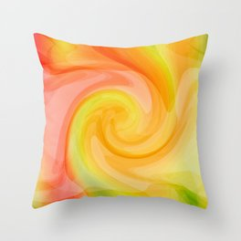 Birth of a Fresh New Day Throw Pillow