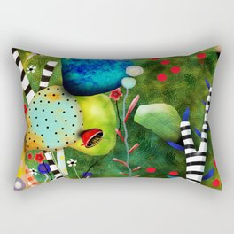 That´s how its got to be - Rupydetequila 2018 - Cactus nopal green and red polka dots Rectangular Pillow