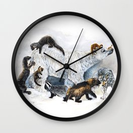Awesome mustelids Wall Clock