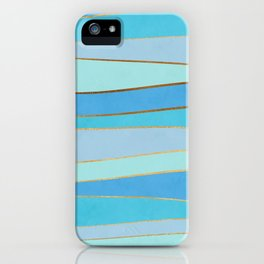 Waves Pattern - Golden Glitter iPhone Case