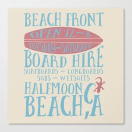 Halfmoon Surf Canvas Print
