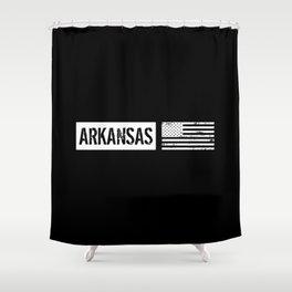 U.S. Flag: Arkansas Shower Curtain