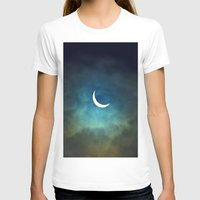 minimalism T-shirts featuring Solar Eclipse 1 by Aaron Carberry