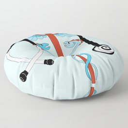 medical caduceus and stethoscope Floor Pillow