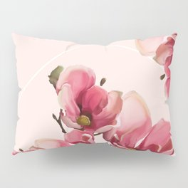 Pink Magnolia Blossoms Pillow Sham