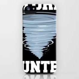 Storm Hunter Tornado Cyclone Motif iPhone Case