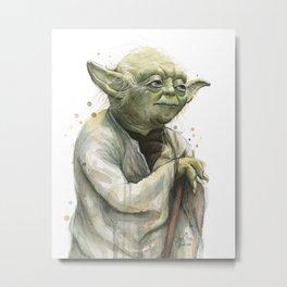 Yoda Jedi Portrait Sci-Fi Metal Print