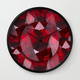 RED GARNET GEMS JANUARY BIRTHSTONE Wall Clock