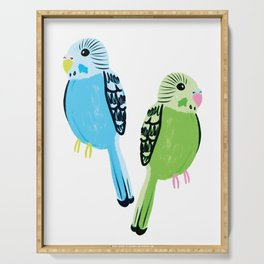 Pretty Parakeets Serving Tray