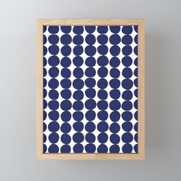 Midcentury Modern Dots Navy Framed Mini Art Print
