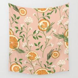 Elderflower & Oranges - Pastel Wall Tapestry
