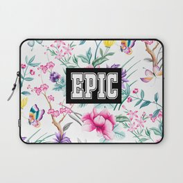 EPIC - white floral pattern Laptop Sleeve