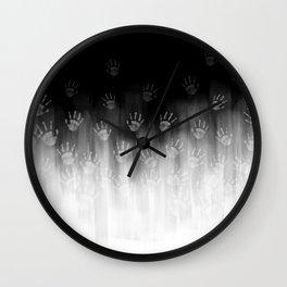 Terror White Hands Wall Clock