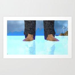 Fly:Water Art Print