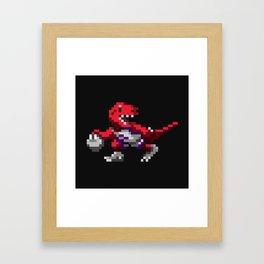 Ballin' Raptor Framed Art Print