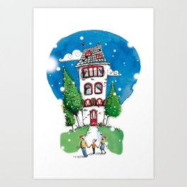Big house Art Print
