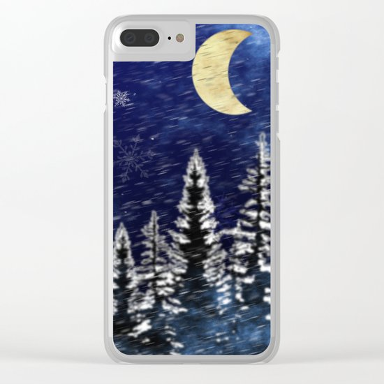 Stormy Night Clear iPhone Case