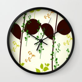 Natures vinest - climbing vines Wall Clock