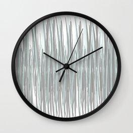Aqua and Gray Wall Clock
