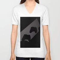 xbox V-neck T-shirts featuring Xbox One Controller Silhouette by HarasiElite